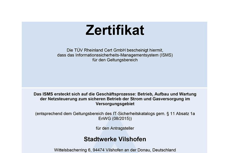 ISMS-Zertifizierung