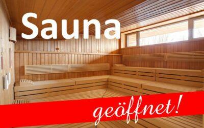 Sauna – Zutritt mit 3G-Regel