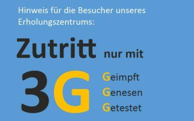 Zutritt mit 3G-Regeln